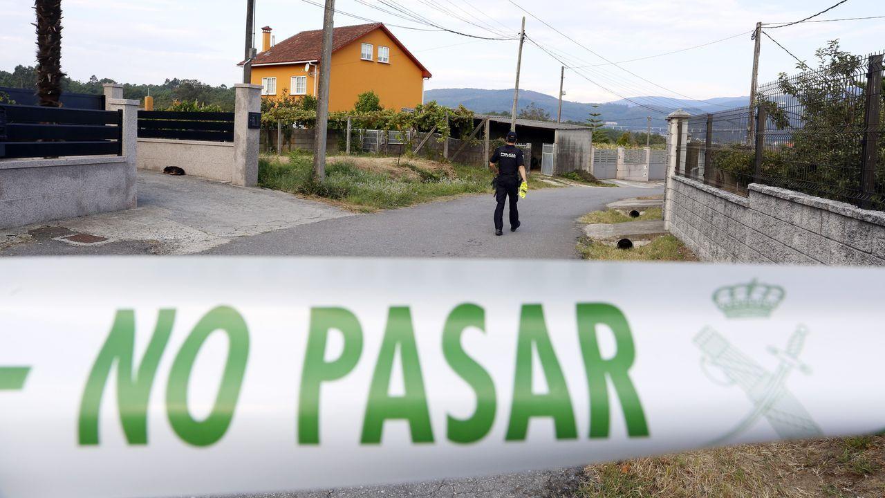 Cordón policial en la zona donde se produjo el asesinato de Sandra Boquete, Alba Boquete y Elena Jamardo
