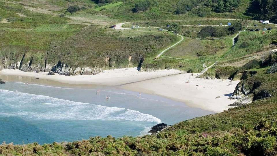 Valdoviño.Playa de A Illa da Laxe (Pobra do Caramiñal).
