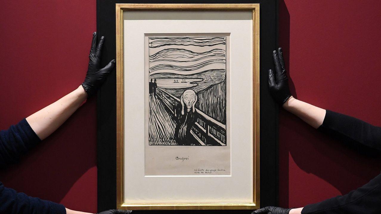 La litografía «El Grito», del artista noruego Edvard Munch