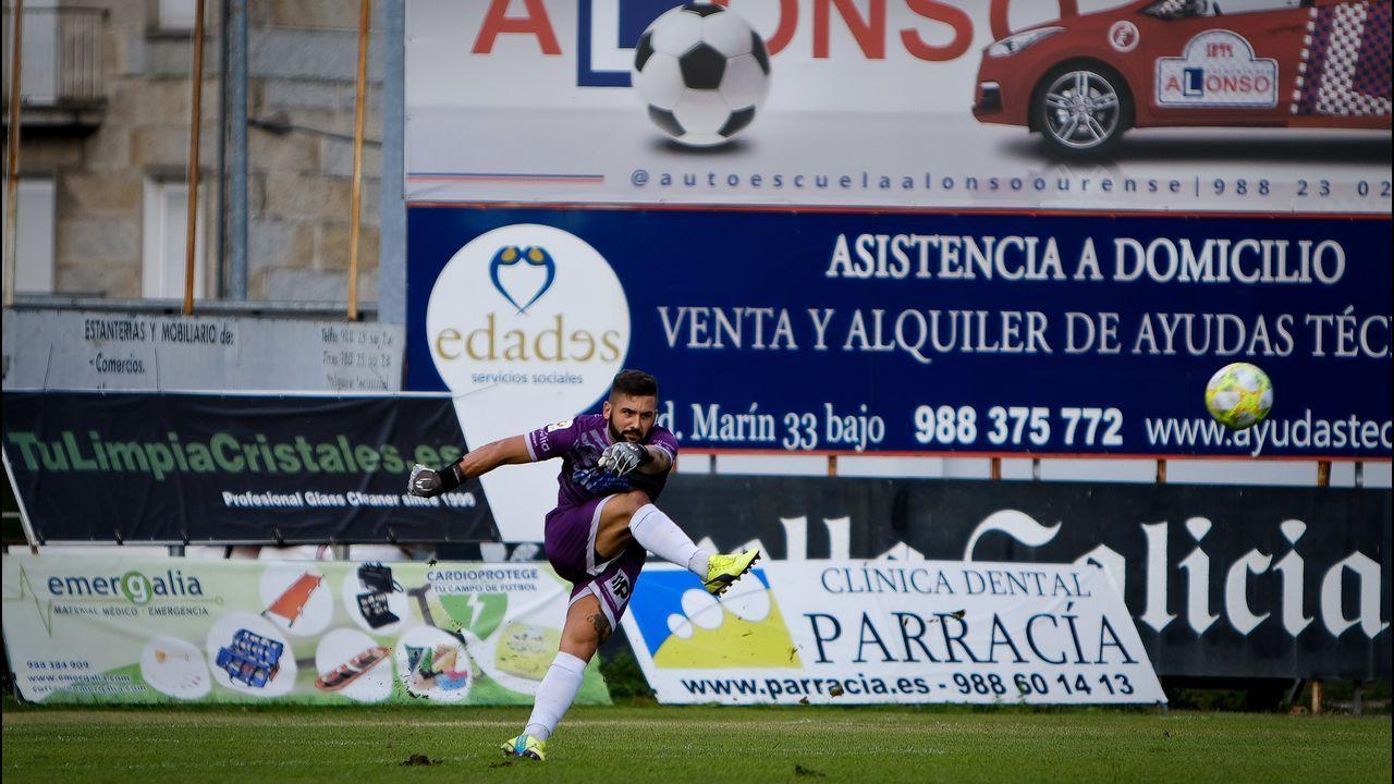 La emoción del campeonato gallego en el Rali Ourense Ribeira Sacra.En Ourense, Gonzalo Pérez Jácome (derecha) es el sucesor en el cargo de Jesús Vázquez (izquierda)