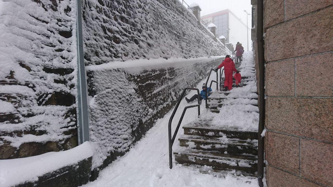 Nieve en A Fonsagrada