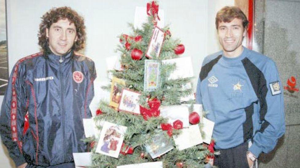 Patxi y Julio Salinas, en diciembre de 1998