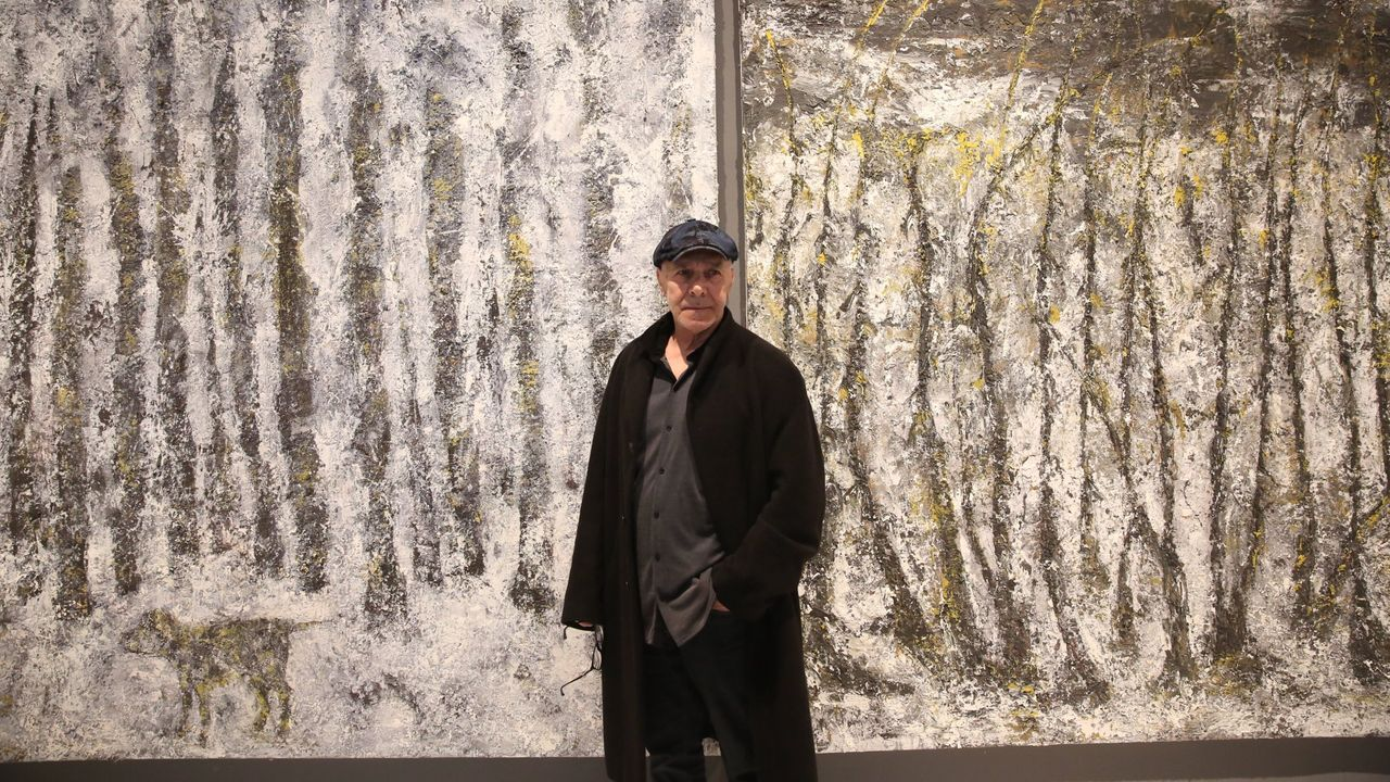 Alexandro, en la inauguración de su exposición «Lume» en el 2019