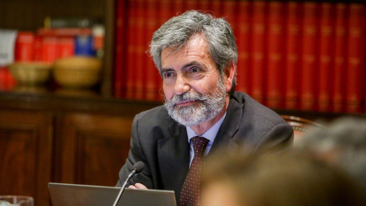 Sede del PP en la calle Génova de Madrid.El presidente del Consejo General del Poder Judicial y del Tribunal Supremo (CGPJ), Carlos Lesmes