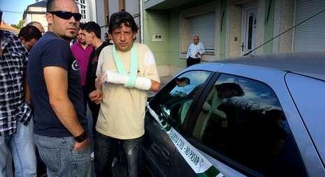 David tuvo que acudir a Urgencias tras ser agredido por «Richo» el domingo por la noche.
