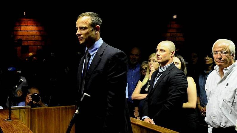 Pistorius, durante la sesión en el juzgado