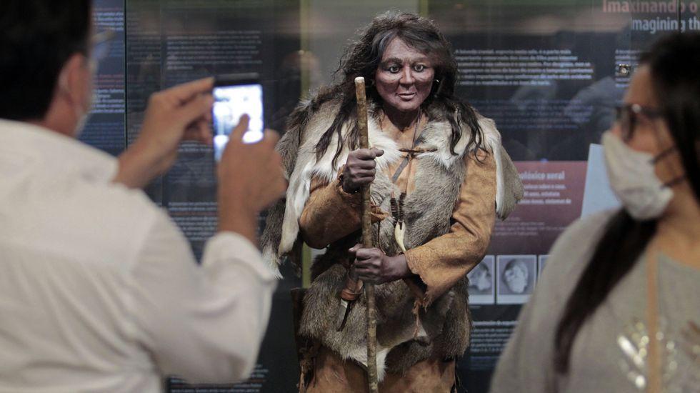 La reproducción de Elba, la mujer que vivió hace 9.300 en lo que ahora es O Courel y cuyos restos fueron encontrados en 1996, es la protagonista de una de las dos nuevas salas del museo