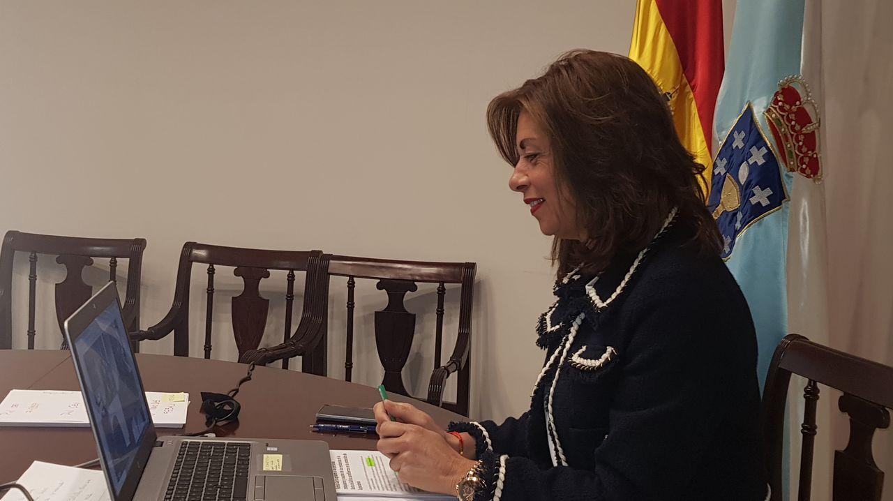 Feijoo anuncia la convocatoria de comicios en Galicia.Marisol Díaz Mouteira, delegada de la Xunta en Ourense, en contacto con las residencias