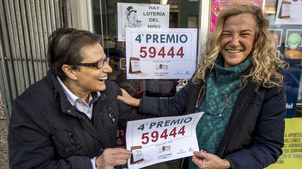 El 59.444, cuarto premio del Sorteo Extraordinario de la Lotería de Navidad, ha sido vendido en parte en el establecimiento de prensa y lotería de Pilar Díaz en Toledo, que por tercer año consecutivo ha repartido suerte