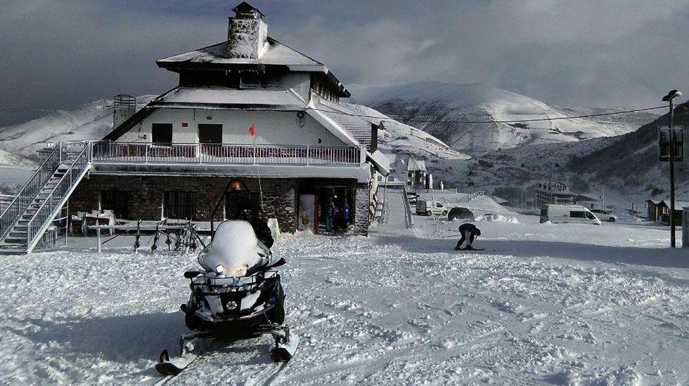 La estación de esquí de Valgrande-Pajares.La estación de esquí de Valgrande-Pajares