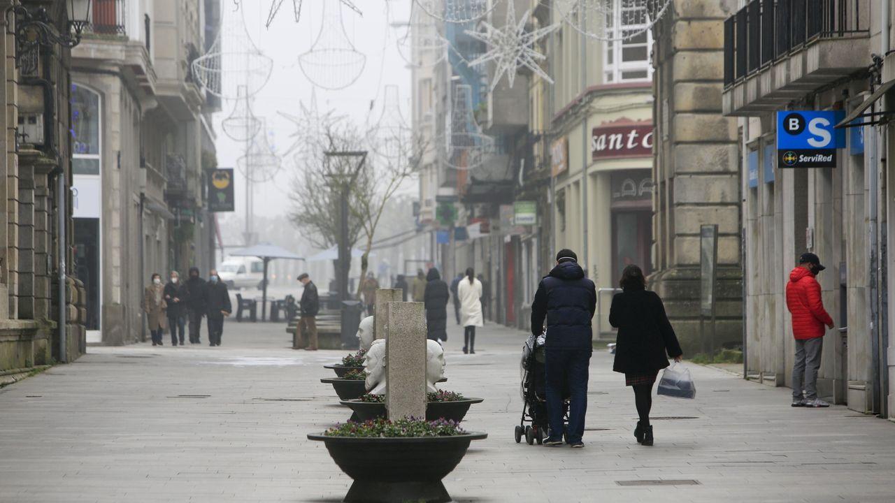 Foto del centro de Lugo hace unos días