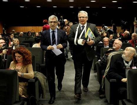 Baltasar Garzón participó en un seminario sobre justicia universal organizado por Izquierda Plural.