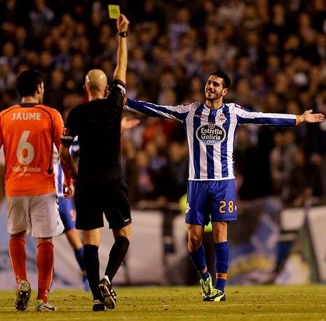 Tras su amonestación del sábado Insua se perderá su segundo partido de Liga.