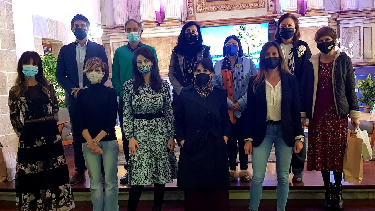 Participantes en el II Encontro Xacobeo Peregrinas, celebrado este sábado en Mondoñedo, en el Centro de Interpretación Camiño Norte