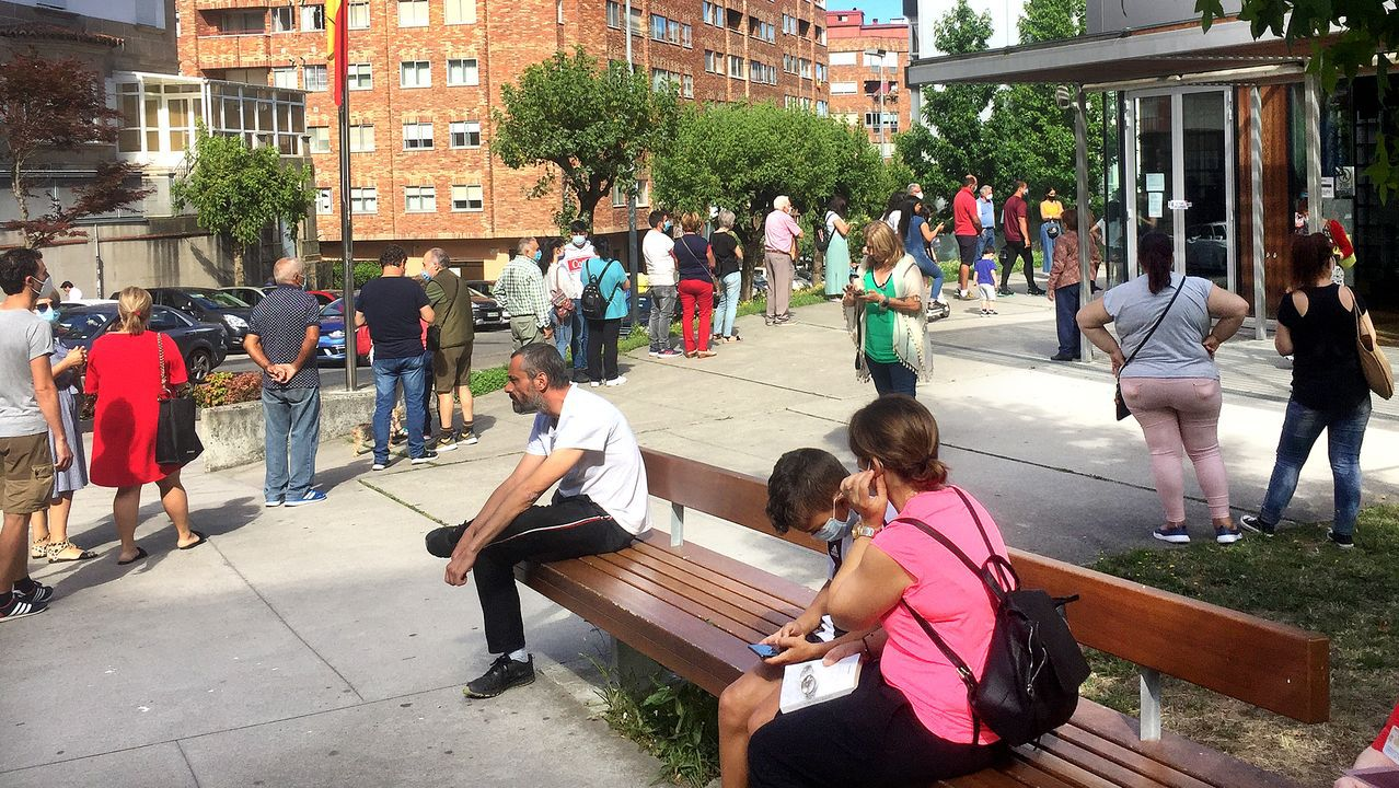 Acto sectorial dedicado a la Familia del candidato del PP, Núñez Feijoo, en Poio (Pontevedra)