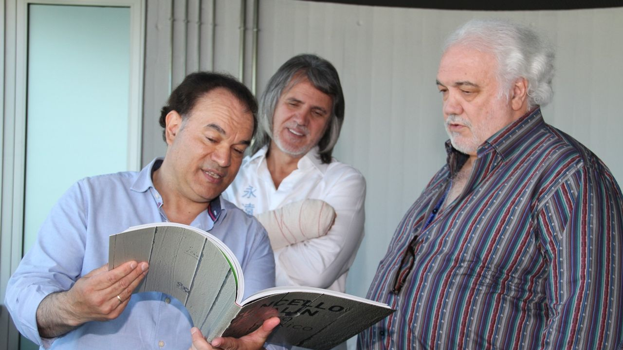El empresario Carlos Vasallo (a la derecha de la imagen)