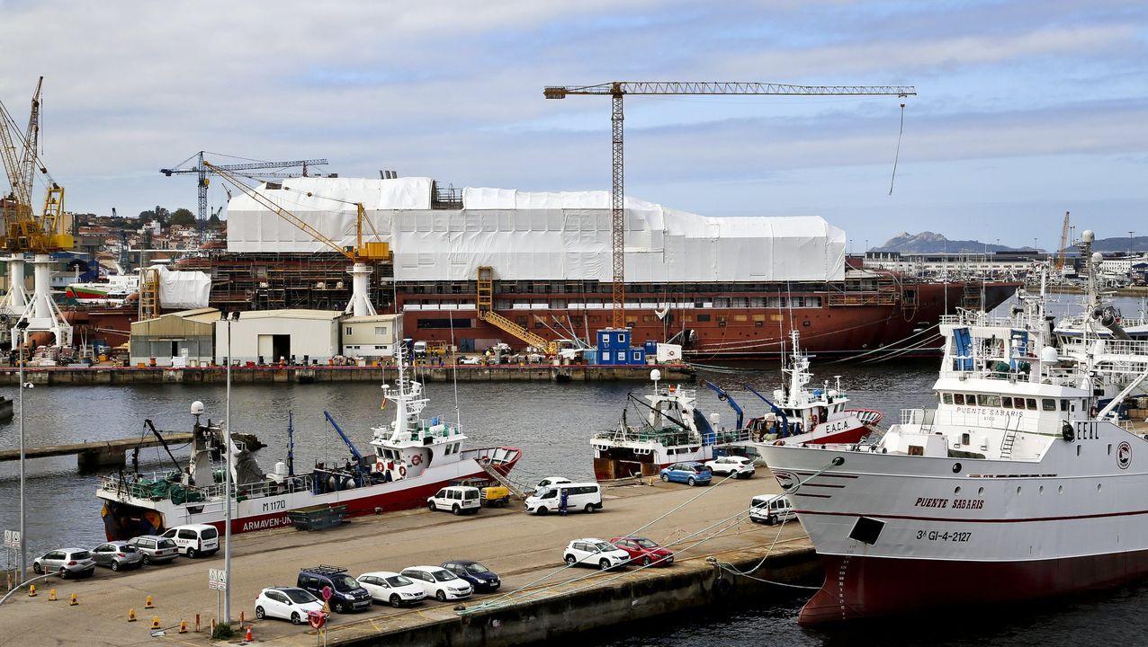 astilleros Vigo.Barco de naviera Armas