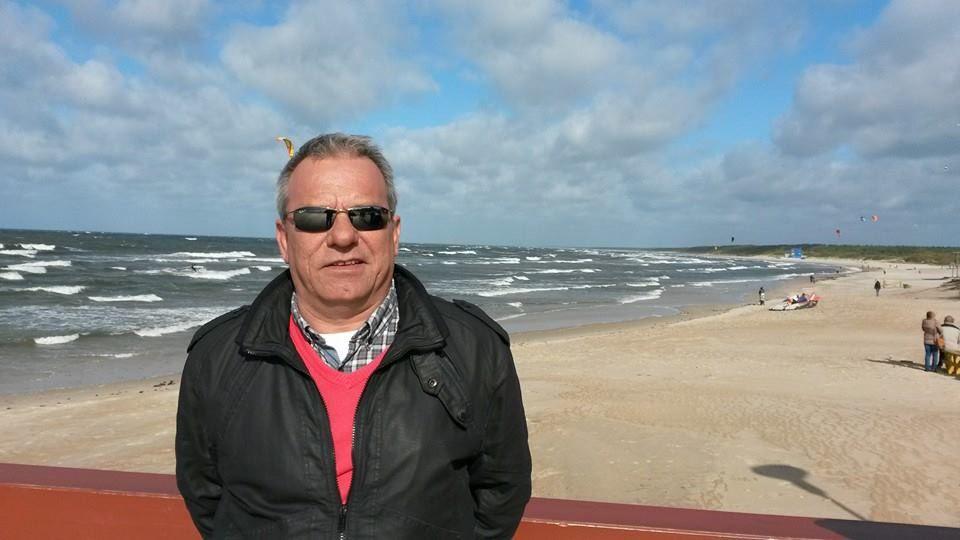 Fabricio Pérez en la playa de Palanga, Lituania