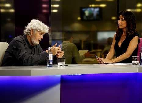 Beiras, anoche en la entrevista con Fernanda Tabarés.
