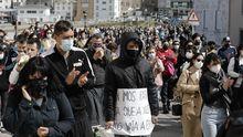 Manifestación en San Cibrao con gran apoyoa las mujeres grabadas sin su consentimiento enA Maruxaina