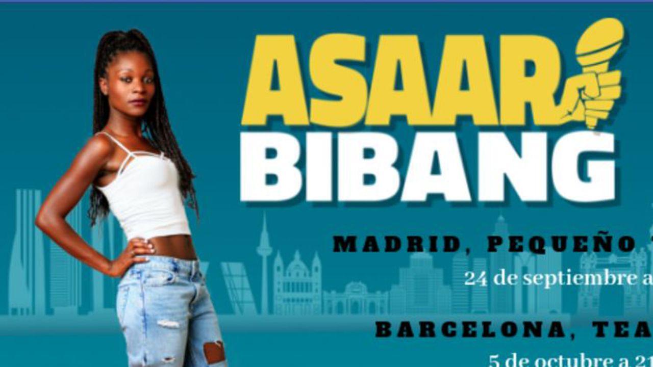 Cartel del espectáculo de la monologuista Asaar Bibang