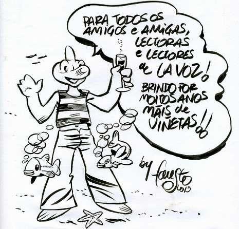 ardalen.El Golfiño de Fausto Isorna saluda a los lectores de La Voz
