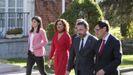 Vilalta,  Montero, Bosch, Rius y Illa entran en el Palacio de la Moncloa para la primera reunión de la mesa de diálogo