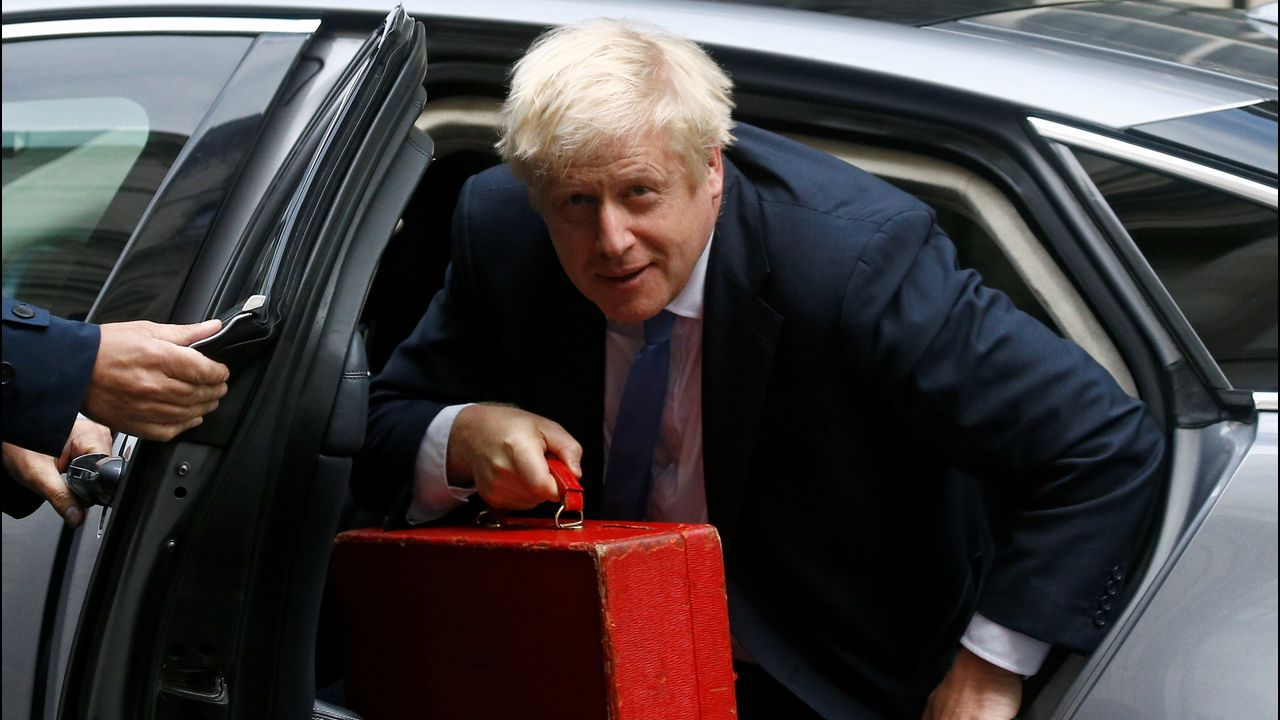 Boris Johnson, a su llegada a Downing Street
