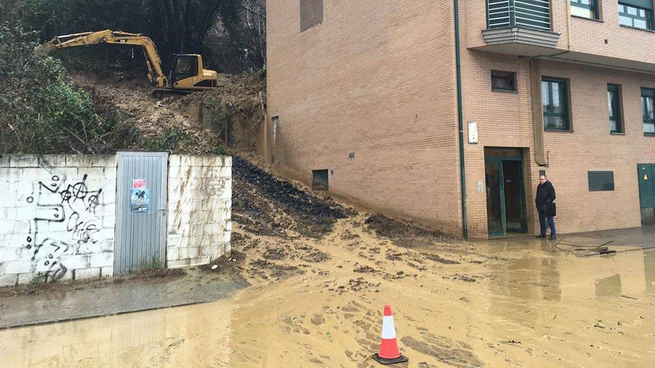 Inundaciones en Oñón, Mieres. Asturias