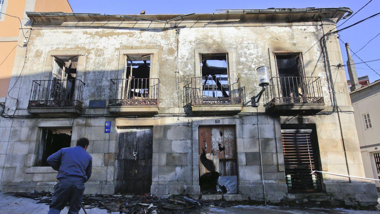 A Casa das Arsenias tras uno de los incendio de verano del 2019
