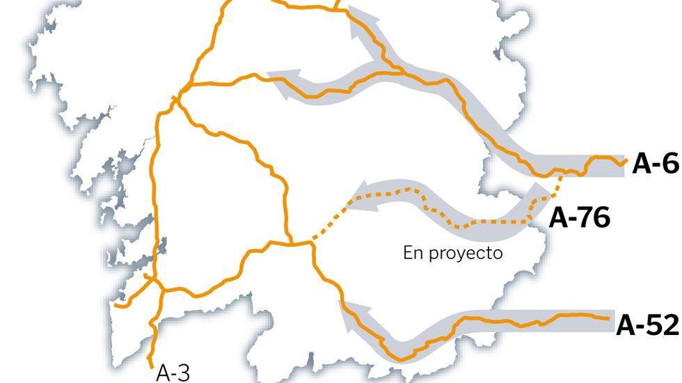 Los principales accesos a Galicia
