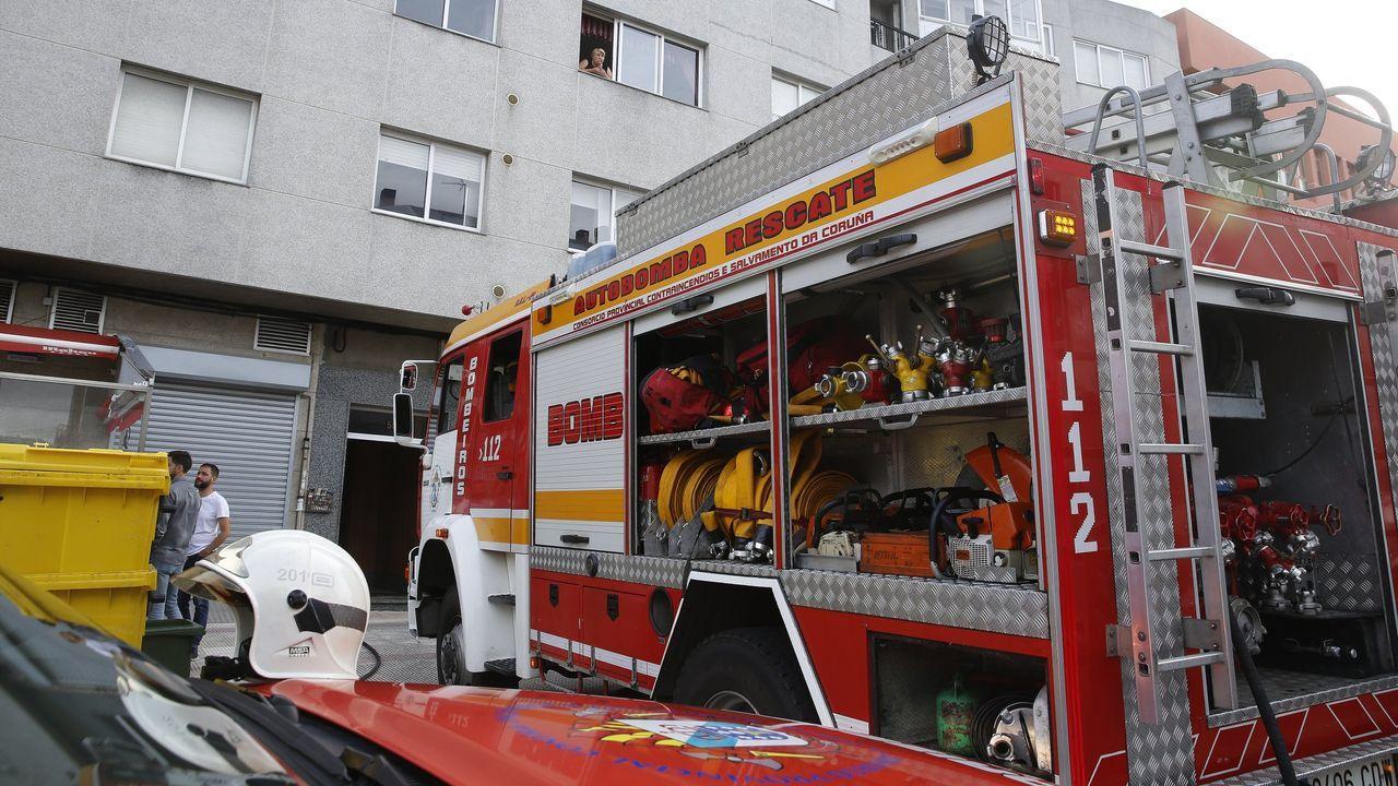 periferia.Imagen de archivo de una intervención de los bomberos de Arteixo