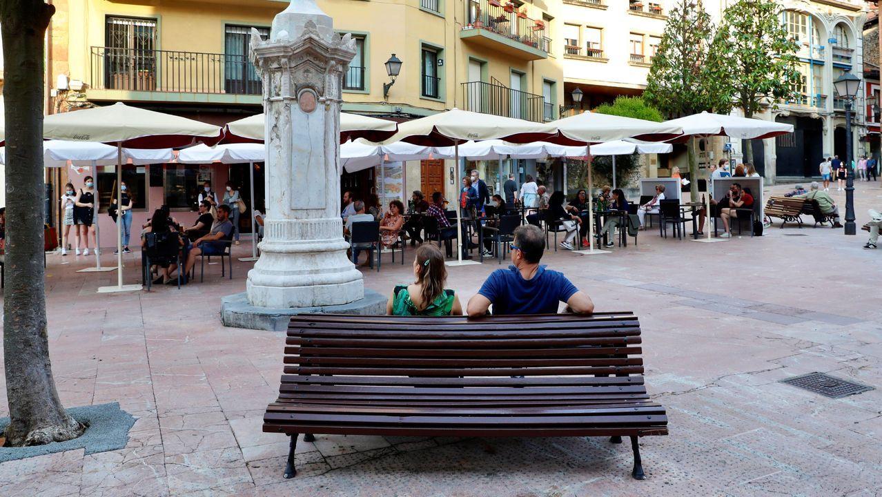 El centro de Oviedo.