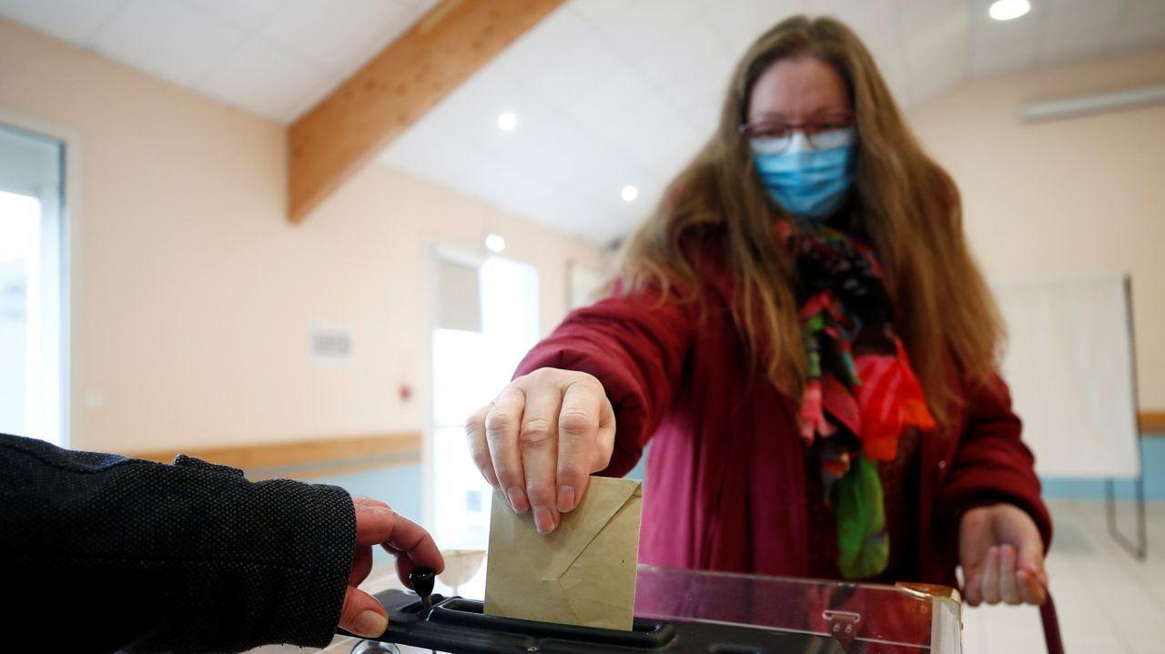 Votación para las municipales en Francia del pasado 15 de marzo, cuando ya había contagios en todo el país