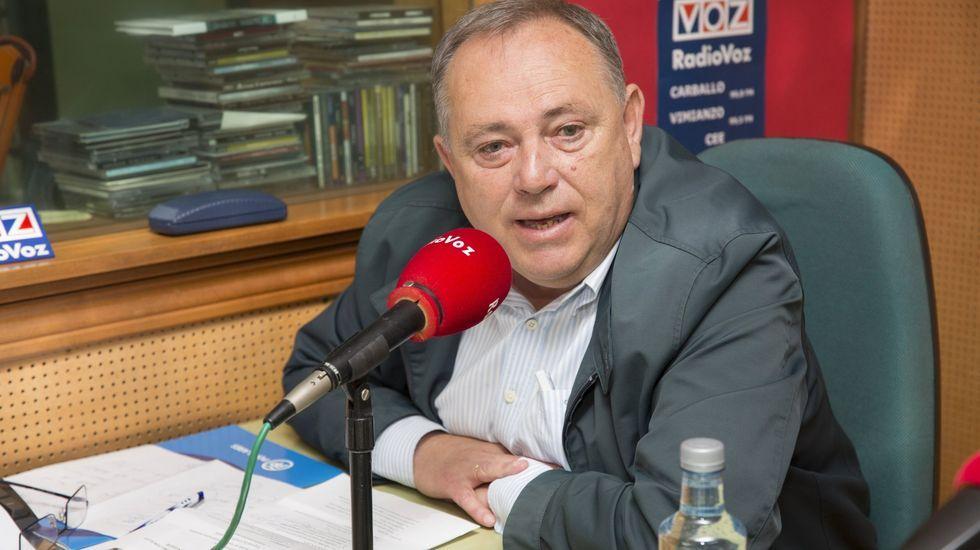 López Varela, en una visita anterior a Radio Voz