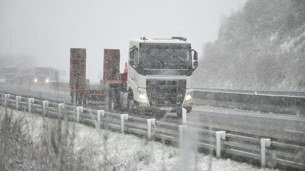 Nieve en Dozón, en la AG-53