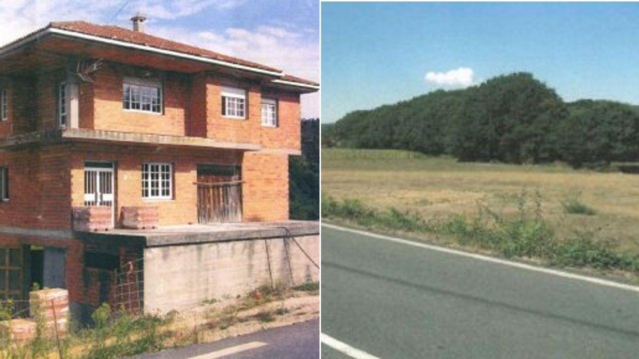 Casa unifamiliar de tres pisos uqe fue derribada en septiembre del año pasado en Santiago de Compostela.