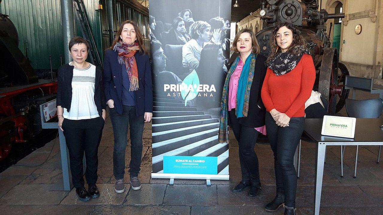 Yolanda Huergo, Lorena Gil, Ana Taboada y Tania González Peñas