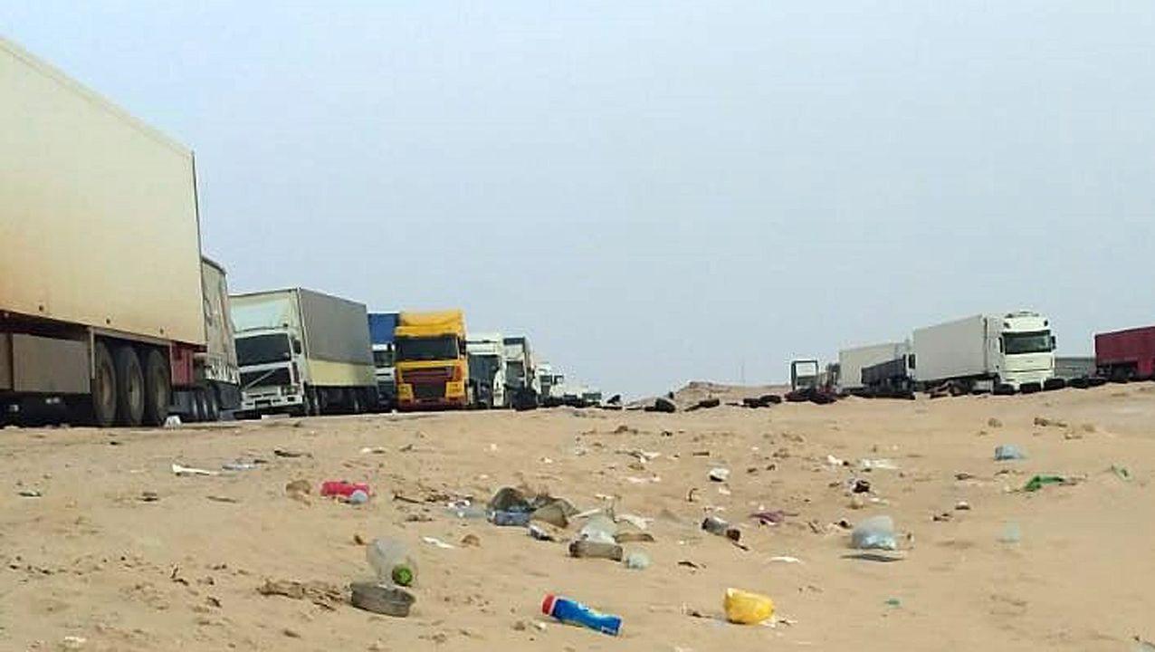 Foto de archivo de otro de los bloqueos en Mauritania.