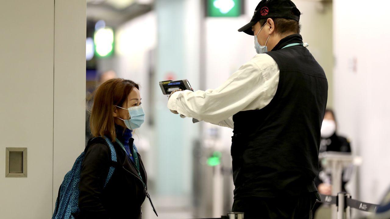 Control de temperatura en el Aeropuerto Internacional de Hong Kong