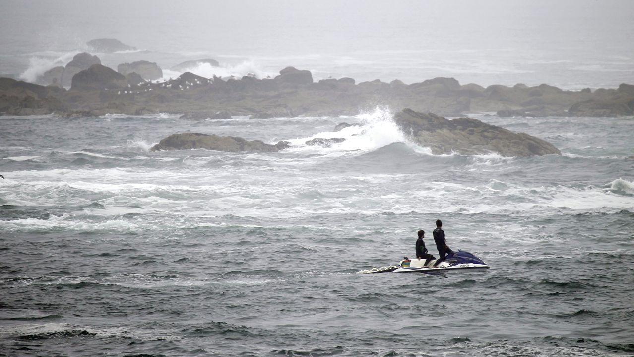 irixoa.Imagen de archivo de una moto de agua en el área de Vigo