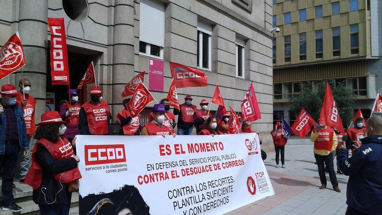 Los delegados sindicales se manifestaron frente a la Subdelegación del Gobierno