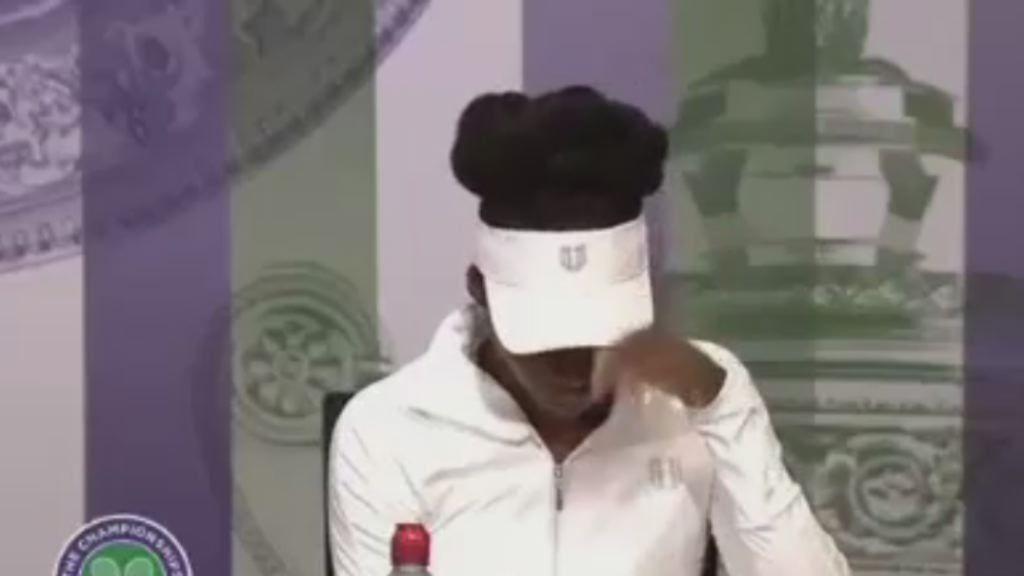 Las lágrimas de Venus Williams en Wimbledon.El suizo Roger Federer celebra su victoria ante el serbio Dusan Lajovic