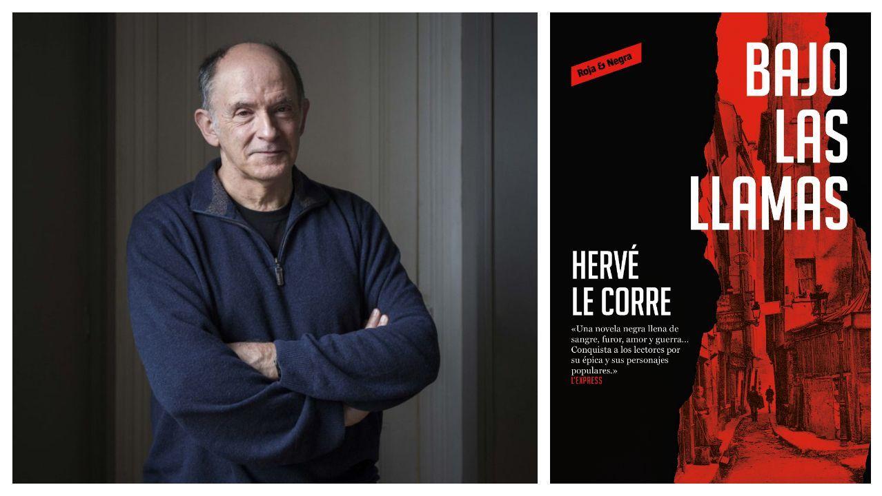 Hervé Le Corre (Burdeos, 1955), reconocido escritor francés de novela policíaca, autor de «Bajo las llamas»