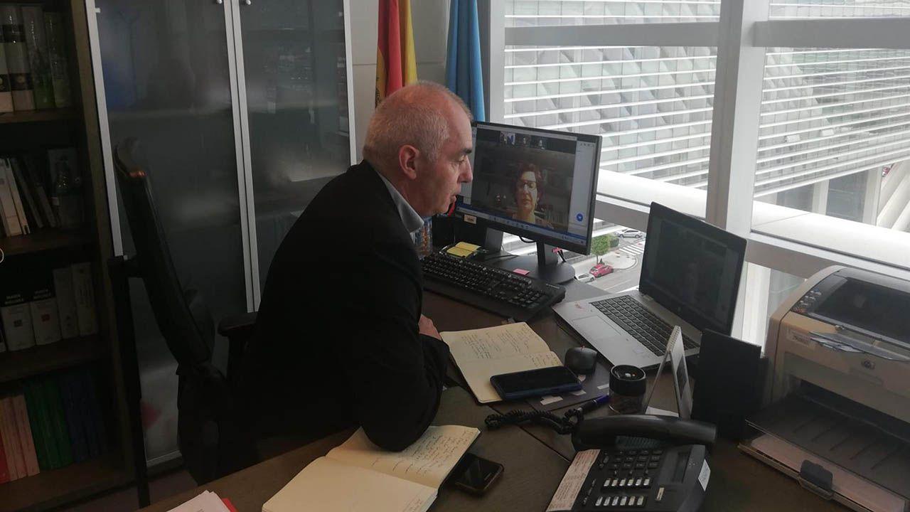 El director xeneral de Política Llingüística, Antón García