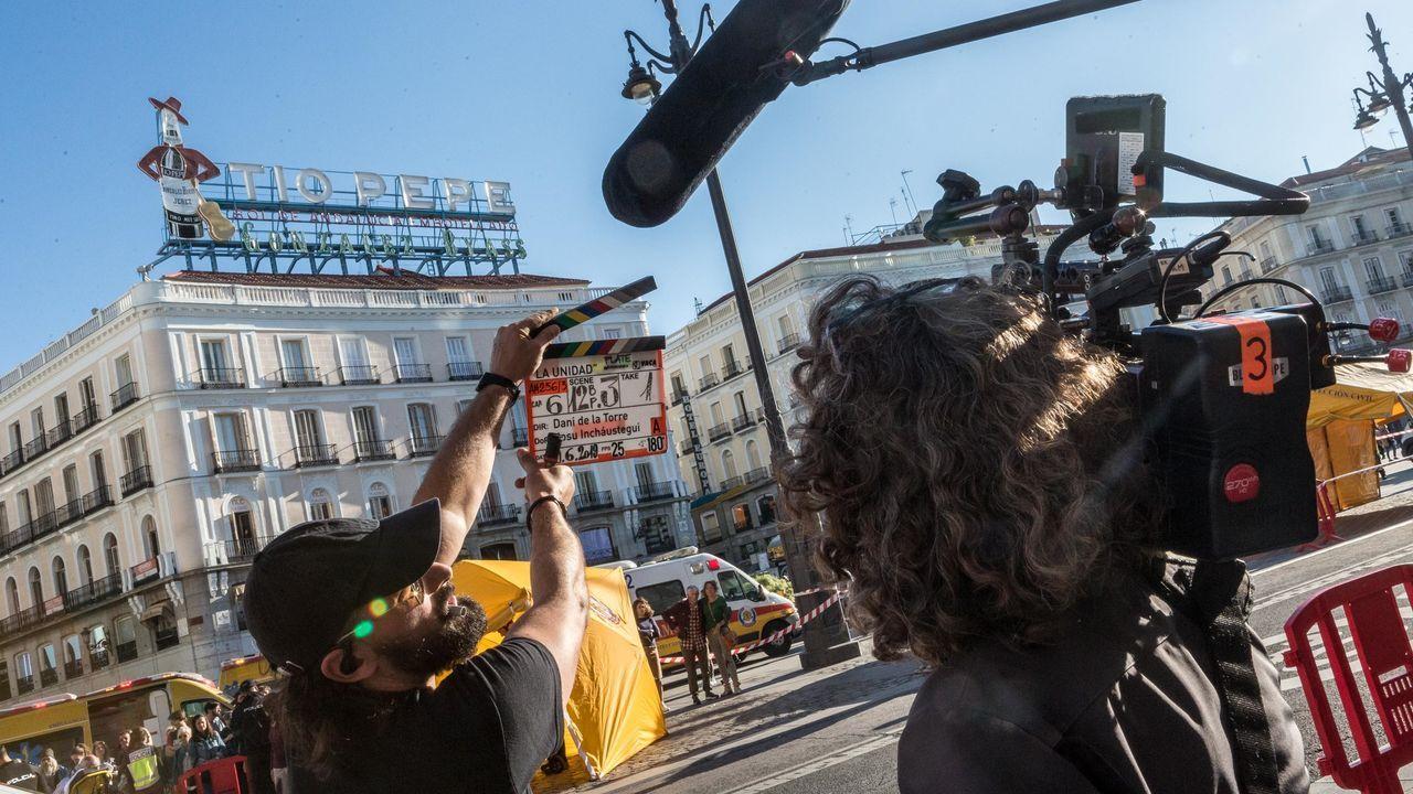 Rodaje de una serie en Madrid