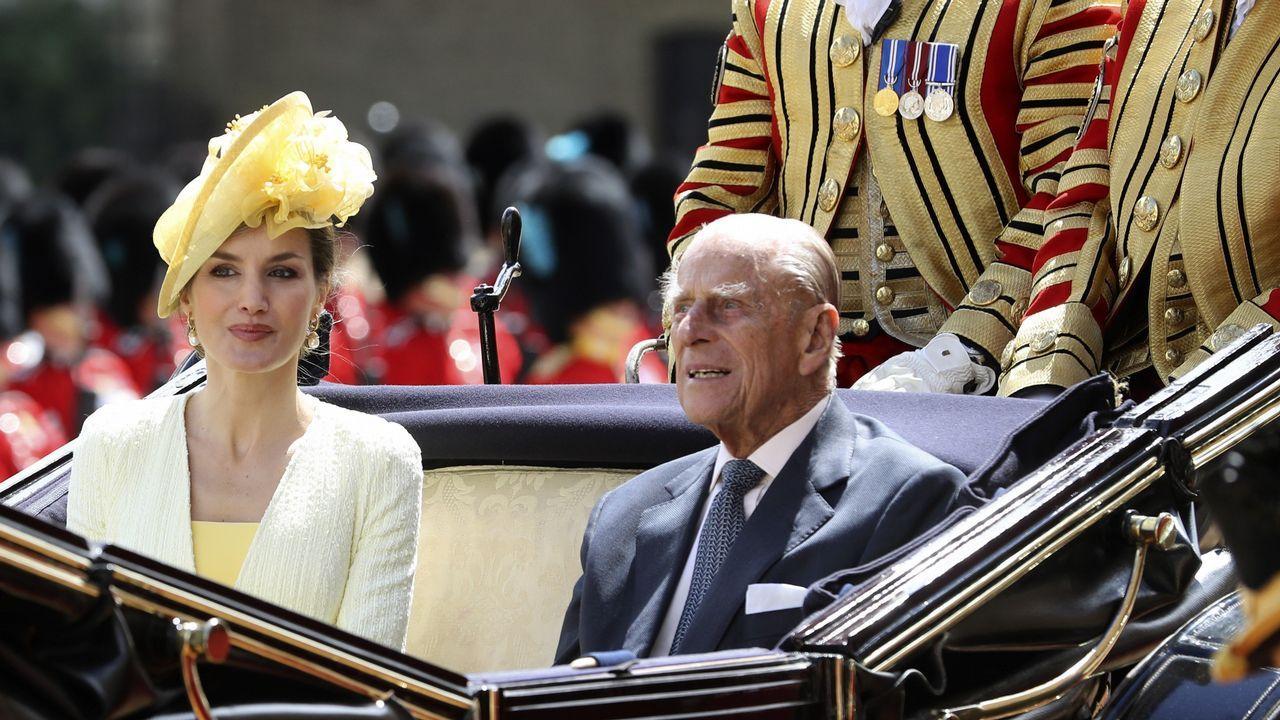 Los reyes, en el día de las Fuerzas Armadas que se celebró en Logroño el 26 de mayo del 2018