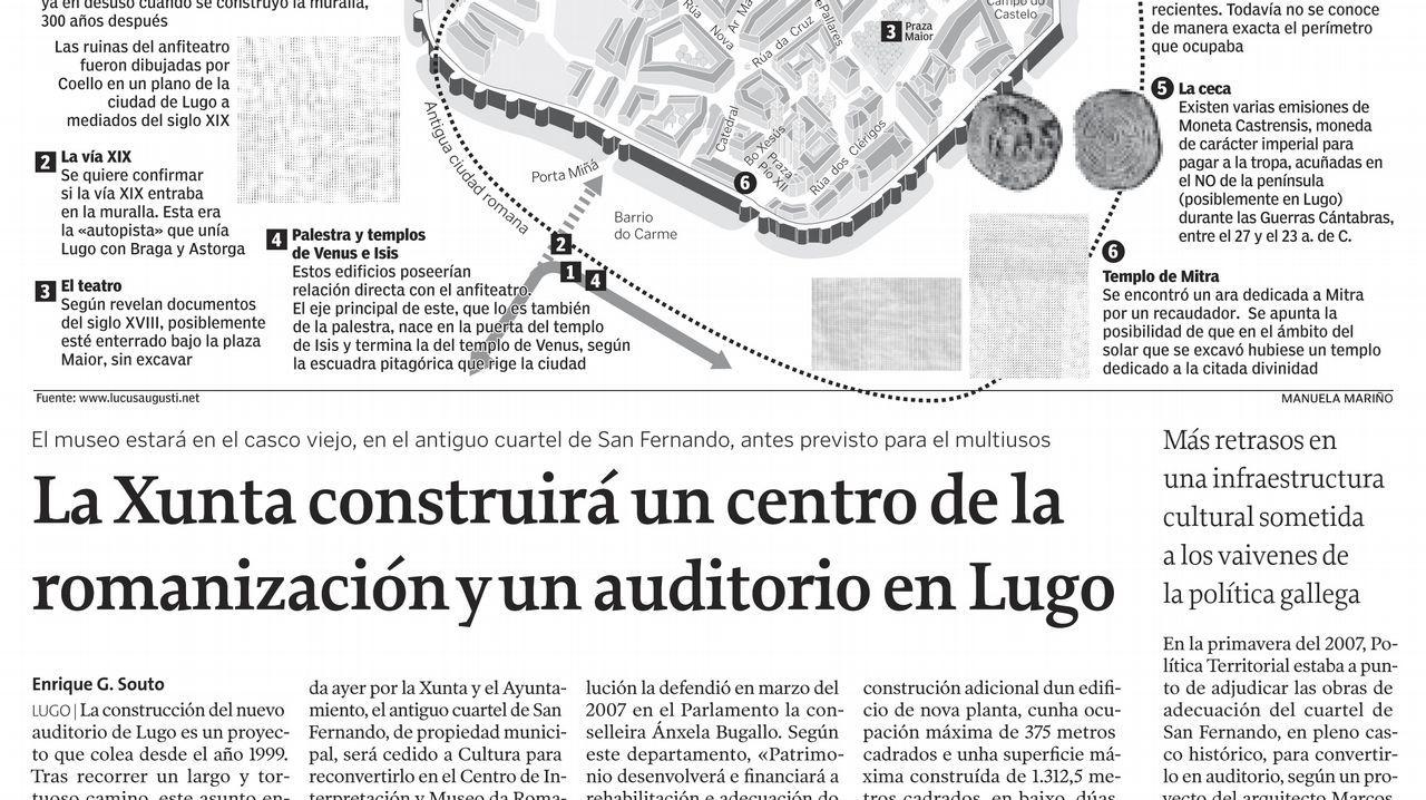 Página de La Voz de Galicia del 9 de febrero del 2008