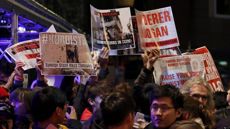 Protestas contra el presidente turco Tayyip Erdogan
