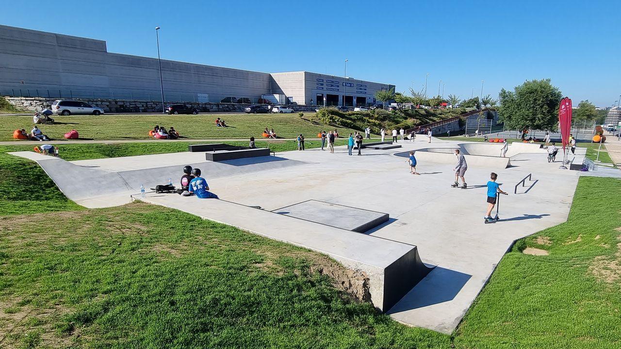 «Pegada Veciñal»da asociación de veciños de A Milagrosa.El nuevo «skatepark» de Lugo